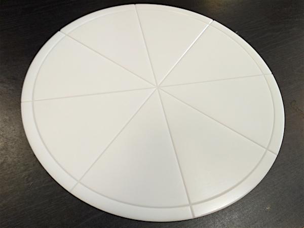 Доска для пиццы, круглая, с разметкой, Д=350 мм